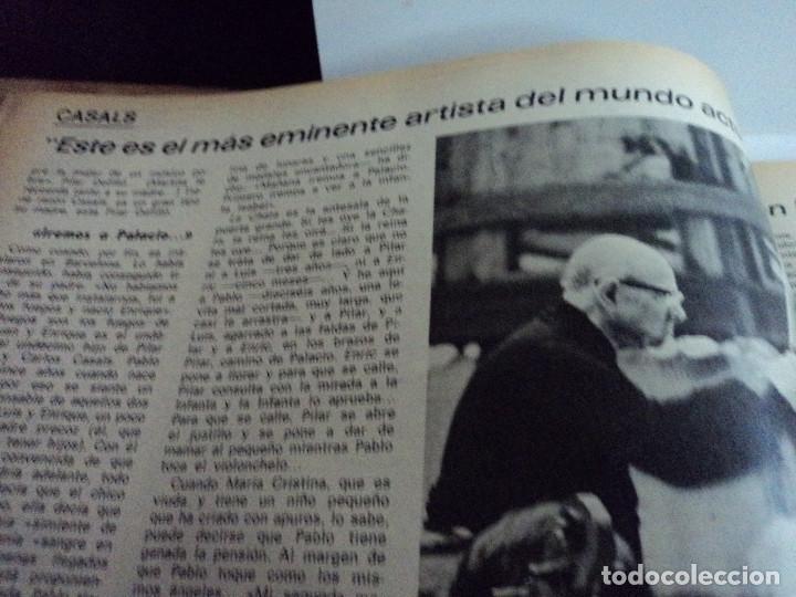 Coleccionismo de Revista Gaceta Ilustrada: CASALS CASI UN SIGLO. 1973 bodas oro de franco, blanca estrada, nastase, - Foto 9 - 103396083