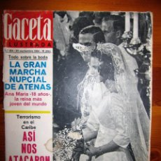 Coleccionismo de Revista Gaceta Ilustrada: GACETA ILUSTRADA N416 26 SEPTIEMBRE 1964 BODA ANA MARIA DE GRECIA. Lote 104675903