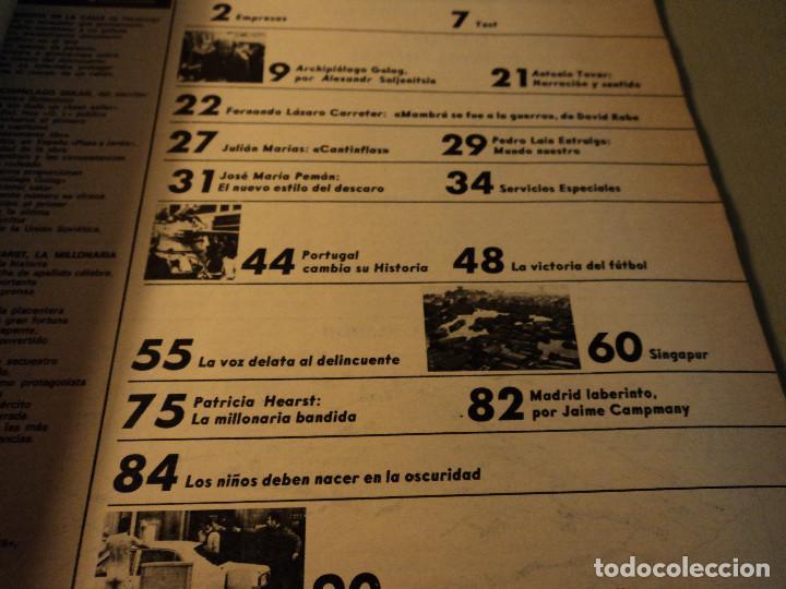 Coleccionismo de Revista Gaceta Ilustrada: gaceta nº 917 general spinola, archipielago gulag, patricia hearst, celtic - at. madrid 1974 - Foto 3 - 105985687