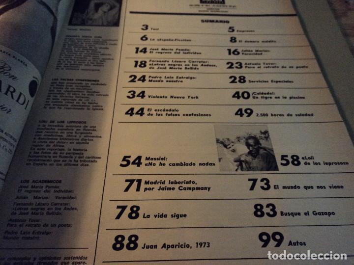 Coleccionismo de Revista Gaceta Ilustrada: gaceta nº 864 massiel, loli de los leprosos, ltalia escandalo de las falsas confesiones 1973 - Foto 2 - 105986179