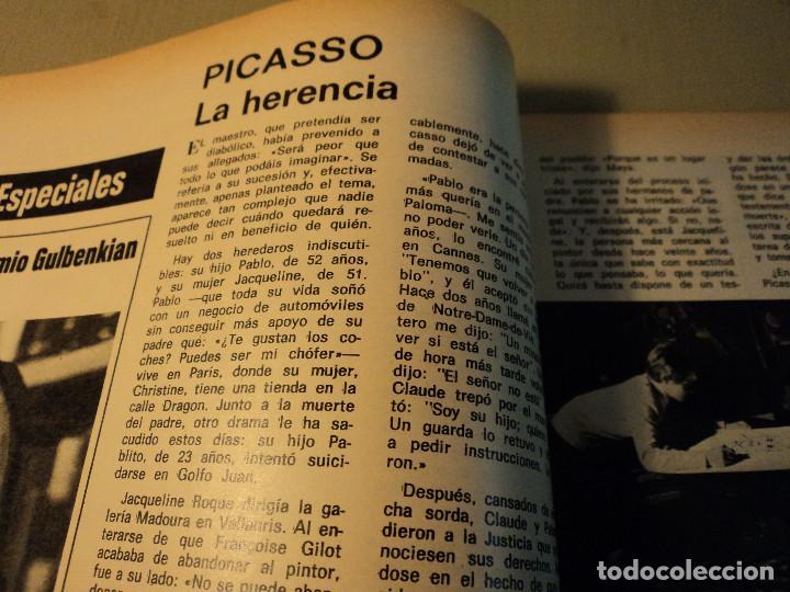 Coleccionismo de Revista Gaceta Ilustrada: gaceta nº 864 massiel, loli de los leprosos, ltalia escandalo de las falsas confesiones 1973 - Foto 4 - 105986179