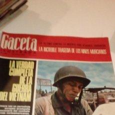 Coleccionismo de Revista Gaceta Ilustrada: REVISTA GACETA ILUSTRADA 486 1966, NIÑOS MUERTOS ENVENENADOS N CARRIL DE LA FAROLA MURCIA, EXCLUSIVA. Lote 107740439