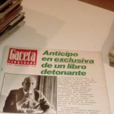 Coleccionismo de Revista Gaceta Ilustrada: REVISTA GACETA ILUSTRADA 943 EL ASESINATO DE HUMBERTO DELGADO. Lote 107740711
