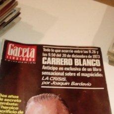 Coleccionismo de Revista Gaceta Ilustrada: REVISTA GACETA ILUSTRADA Nº 914 1974, MUERTE CARRERO BLANCO, LANGOSTA DEL SIGLO XX, PASCUAL MEZQUITA. Lote 107742487