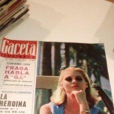 Coleccionismo de Revista Gaceta Ilustrada: REVISTA GACETA ILUSTRADA Nº 458 FRAGA LA HEROINA CAROL LINLEY. Lote 107742839