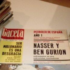 Coleccionismo de Revista Gaceta Ilustrada: REVISTA GACETA ILUSTRADA Nº 450 -22 MAYO 1965-JAYNE MANSFIELD Y MAURICE CHEVALIER-PETROLEO EN ESPAÑA. Lote 107743643