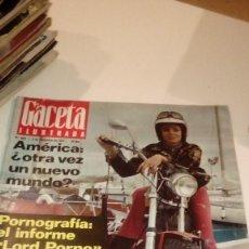 Coleccionismo de Revista Gaceta Ilustrada: REVISTA GACETA ILUSTRADA Nº 843 1972 FRANCIS AUNGIER PAKEMNHAM, JUAN PERON, SUE LYON, FELLINI, ALICE. Lote 107743887