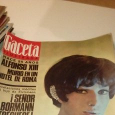 Coleccionismo de Revista Gaceta Ilustrada: REVISTA GACETA ILUSTRADA Nº 490 DE 26/02/1966. ALFONSO XIII, MONICA VITTI, HITLER, BORMANN, EICHMANN. Lote 107746995