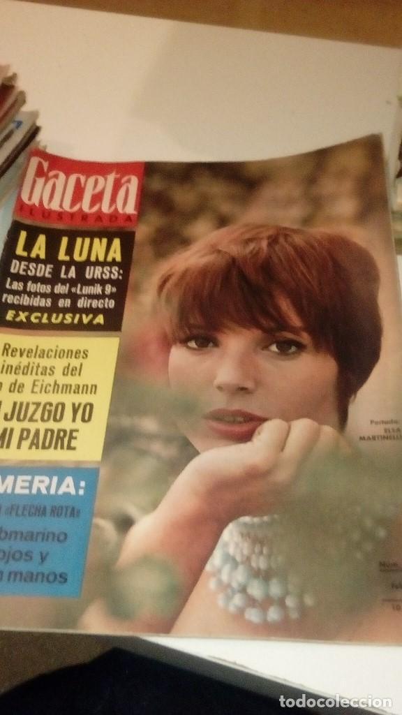 REVISTA GACETA ILUSTRADA Nº 489 1966, SUBMARINO BUSCA BOMBAS EN PALOMARES, FOTOS DE LA LUNA LUNIK 9, (Coleccionismo - Revistas y Periódicos Modernos (a partir de 1.940) - Revista Gaceta Ilustrada)