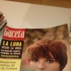 Coleccionismo de Revista Gaceta Ilustrada: REVISTA GACETA ILUSTRADA Nº 489 1966, SUBMARINO BUSCA BOMBAS EN PALOMARES, FOTOS DE LA LUNA LUNIK 9,. Lote 107747039
