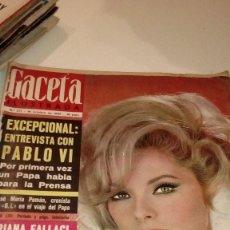 Coleccionismo de Revista Gaceta Ilustrada: REVISTA GACETA ILUSTRADA Nº 471 VIRNA LISI PABLO VI ORIANA FALACI CONTRAPORTADA SUELTA. Lote 107747423