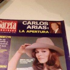Coleccionismo de Revista Gaceta Ilustrada: REVISTA GACETA ILUSTRADA Nº 907 1974 - MIRTA MILLER, FERNANDEZ OCHOA, CARLOS ARIAS GOBIERNO, TELETER. Lote 107747823