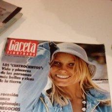 Coleccionismo de Revista Gaceta Ilustrada: REVISTA GACETA ILUSTRADA Nº 973 JANET AGREN NEGOCIOS CIA. Lote 107747887
