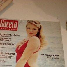 Coleccionismo de Revista Gaceta Ilustrada: REVISTA GACETA ILUSTRADA 925 EVA RUEBER OVNI ARIAS. Lote 107748047