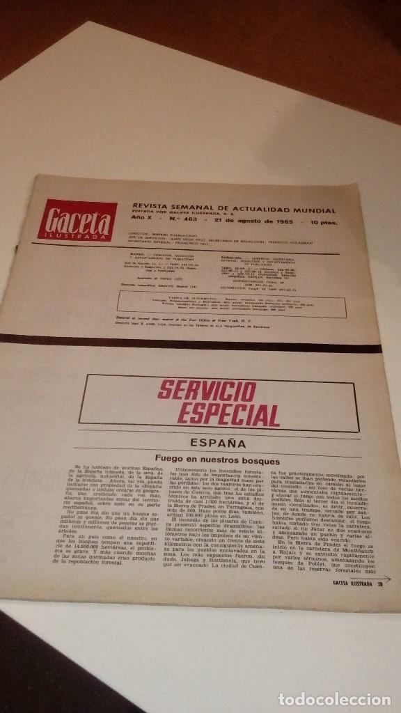 REVISTA GACETA ILUSTRADA 463 PORTADA ROTA SHIRLEY MCLAINE NAUFRAGO EN EL ESPACIO (Coleccionismo - Revistas y Periódicos Modernos (a partir de 1.940) - Revista Gaceta Ilustrada)