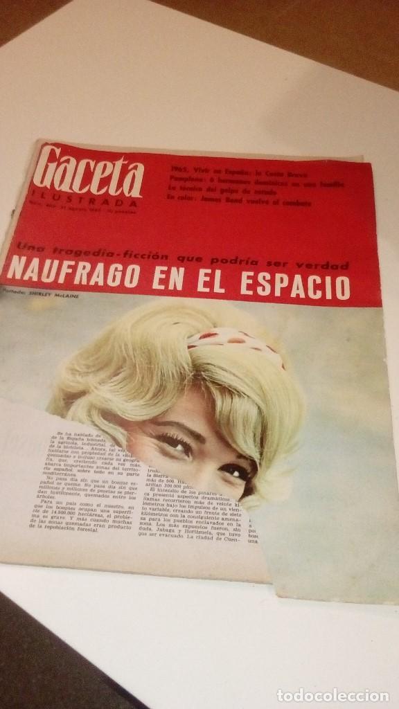 Coleccionismo de Revista Gaceta Ilustrada: REVISTA GACETA ILUSTRADA 463 PORTADA ROTA SHIRLEY MCLAINE NAUFRAGO EN EL ESPACIO - Foto 2 - 107748219