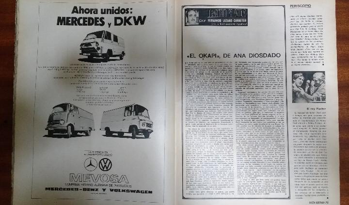Coleccionismo de Revista Gaceta Ilustrada: GACETA ILUSTRADA Nº 835-1972 - LA MATANZA DE MUNICH - PUBLICIDAD SCHWEPPES - DKW MEVOSA - Foto 14 - 86505908