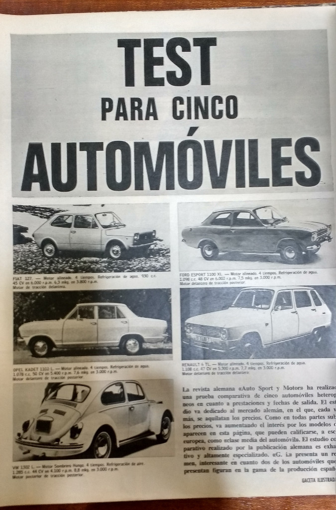 Coleccionismo de Revista Gaceta Ilustrada: GACETA ILUSTRADA Nº 838-1972 - IRVING EL CASO HUGHES - FIRESTONE - SEAT 60 - AUSTIN VICTORIA-FYNLEY - Foto 20 - 86506096