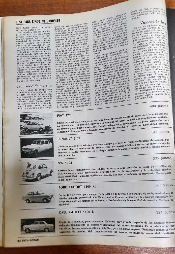 Coleccionismo de Revista Gaceta Ilustrada: GACETA ILUSTRADA Nº 838-1972 - IRVING EL CASO HUGHES - FIRESTONE - SEAT 60 - AUSTIN VICTORIA-FYNLEY - Foto 21 - 86506096