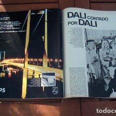 Coleccionismo de Revista Gaceta Ilustrada: GACETA ILUSTRADA 1974 / SALVADOR DALI, MARILYN MONROE, LAURA ANTONELLI. Lote 109374599