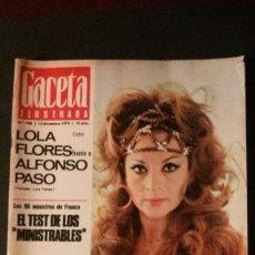 Coleccionismo de Revista Gaceta Ilustrada: ROSARIO FLORES-LOLA FLORES-ALFREDO DI STEFANO-MEDIAS-MEYBA-SEAT 124. Lote 109429503
