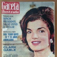 Coleccionismo de Revista Gaceta Ilustrada: GACETA ILUSTRADA Nº 216 NOVIEMBRE 1960 JACQUELINE KENNEDY/CLARK GABLE PUBLICIDAD. Lote 112229003
