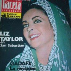 Coleccionismo de Revista Gaceta Ilustrada: GACETA ILUSTRADA LIZ TAYLOR EN SAN SEBASTIÁN NÚMERO 886 30 SEP 1973. Lote 112798412
