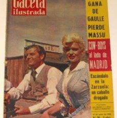 Coleccionismo de Revista Gaceta Ilustrada: GACETA ILUSTRADA #89 1958 JAYNE MANSFIELD CURD JÜRGENS FRANCO BETIS REVISTA. Lote 114160175