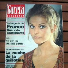 Coleccionismo de Revista Gaceta Ilustrada: MIGUEL BOSE, CLAUDIA CARDINALE, BEBA LONCAR, NOSTRADAMUS, FRANCISCO FRANCO, TENTE, SCALEXTRIC... Lote 114162735