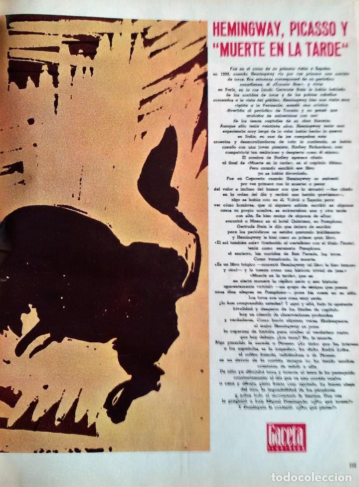Coleccionismo de Revista Gaceta Ilustrada: Muerte en la Tarde, E. Hemingway. Con ilustraciones de Picasso. Gaceta Ilustrada, 1966. Gran formato - Foto 3 - 115582159