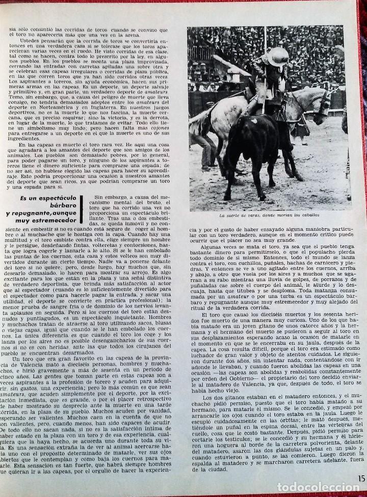 Coleccionismo de Revista Gaceta Ilustrada: Muerte en la Tarde, E. Hemingway. Con ilustraciones de Picasso. Gaceta Ilustrada, 1966. Gran formato - Foto 6 - 115582159