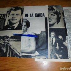 Coleccionismo de Revista Gaceta Ilustrada: RECORTE DE PRENSA : TED KENNEDY : ACCIDENTE DE SECRETARIA. GACETA ILUSTRADA, AGOSTO 1969. Lote 116435415
