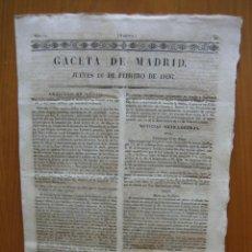 Coleccionismo de Revista Gaceta Ilustrada: PERIÓDICO ANTIGUO GACETA DE MADRID.. Lote 123993203