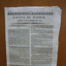 Coleccionismo de Revista Gaceta Ilustrada: PERIÓDICO ANTIGUO GACETA DE MADRID 1826. Lote 123993603