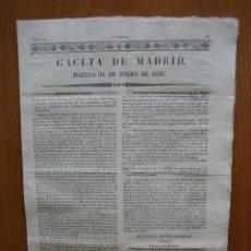 Coleccionismo de Revista Gaceta Ilustrada: PERIÓDICO ANTIGUO GACETA DE MADRID 1826. Lote 123993615
