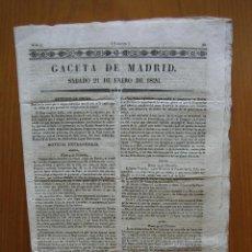Coleccionismo de Revista Gaceta Ilustrada: PERIÓDICO ANTIGUO GACETA DE MADRID 1826. Lote 123993851