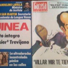 Coleccionismo de Revista Gaceta Ilustrada: GACETA ILUSTRADA Nº 1.013 Y Nº 1.046. Lote 125082123