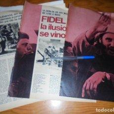 Coleccionismo de Revista Gaceta Ilustrada: RECORTE PRENSA : FIDEL CASTRO : LA ILUSION SE VINO ABAJO. GACETA ILUSTRADA, AGOSTO 1970. Lote 126734411