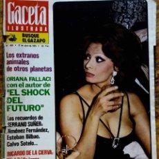 Coleccionismo de Revista Gaceta Ilustrada: GACETA ILUSTRADA. Nº 968. ABRIL 1975. SOFIA LOREN.. Lote 127625015