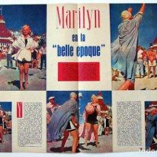 Coleccionismo de Revista Gaceta Ilustrada: MARILYN EN LA BELLE EPOQUE. ARTÍCULO DE LA GACETA ILUSTRADA 1959. Lote 128004427