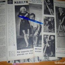 Collectionnisme de Magazine Gaceta Ilustrada: RECORTE PRENSA : MARILYN MONROE, PIERDE OTRO HIJO. GACETA ILUSTRADA, ENERO 1959. Lote 130624282