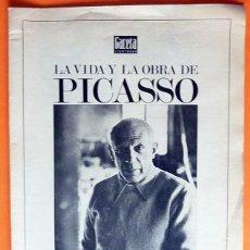Coleccionismo de Revista Gaceta Ilustrada: RECORTE PRENSA / DOSSIER: LA VIDA Y LA OBRA DE PICASSO - GACETA ILUSTRADA EXTRA Nº 863 - 48 PAG-1973. Lote 131160744