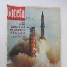 Coleccionismo de Revista Gaceta Ilustrada: GACETA ILUSTRADA - COMO IRA MI COHETE A LA LUNA, VON BRAUN. Lote 132633958