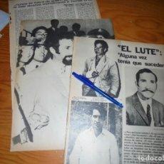 Coleccionismo de Revista Gaceta Ilustrada: RECORTE PRENSA : LA DETENCION DE EL LUTE. GACETA ILUSTRADA, JUNIO 1973. Lote 133297118