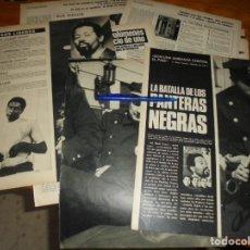 Coleccionismo de Revista Gaceta Ilustrada: RECORTE PRENSA : LA BATALLA DE LOS PANTERAS NEGRAS. GACETA ILUSTRADA, MARZO 1970. Lote 133398542