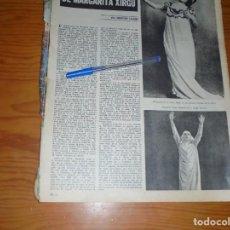 Coleccionismo de Revista Gaceta Ilustrada: RECORTE PRENSA : LA MUERTE DE MARGARITA XIRGU. GACETA ILUS., NOVIBRE 1960. Lote 134099970