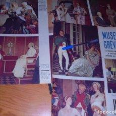 Coleccionismo de Revista Gaceta Ilustrada: RECORTE PRENSA : EL MUSEO DE CERA GREVIN. GACETA ILSTR, JULIO 1958. Lote 134100286