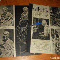 Coleccionismo de Revista Gaceta Ilustrada: RECORTE PRENSA : GROCK, EL MEJOR PAYASO DEL MUNDO. GACETA ILSTR, JULIO 1958. Lote 134100510
