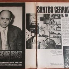 Colecionismo da Revista Gaceta Ilustrada: RECORTE GACETA ILUSTRADA 717 1970 SANTOS CERRADA. HISTORIA DE UN FALSIFICADOR, 5 PGS. Lote 136567654