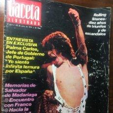 Coleccionismo de Revista Gaceta Ilustrada: REVISTA MAGAZINE GACETA ILUSTRADA ROLLING STONE NUM LOT50. Lote 137640370
